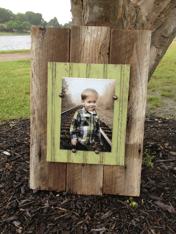 Barn Wood Picture Frame Plank Style 5x7 By Jmacdesignsframes