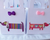 16 Dog themed party favour boxes - gift boxes - birthday/baby shower party favours - dog themed party favour boxes