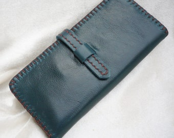 Bi-fold Woman Leather Wallet, Leather Clutch  Wallet, Leather Purse Wallet,  Handstiched, Hand-sewn