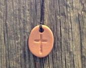 Natural Cross Pendant