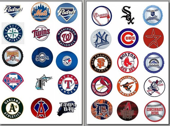 Precut One Inch Major League Baseball Bottle Cap By Imagethis