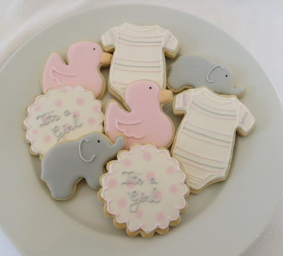 Items Similar To Baby Shower Cookie Favors Decorated For A