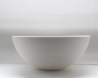 Large snow white bowl made from English fine bone china.