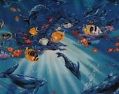1 yard of Underwater Ocean fabric by Kona Bay Fabrics
