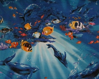 1 yard of Underwater Ocean fabric by Kona Bay Fabrics