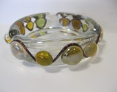 Beaded Wire Wrapped Glass Ashtray