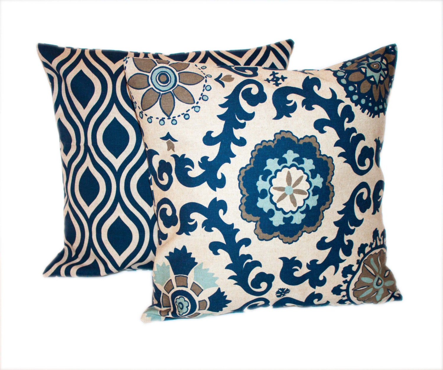 Navy Throw Pillow Sets : Unavailable Listing on Etsy