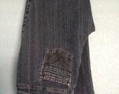 Contrast Designer Jeans for Women - Vintage