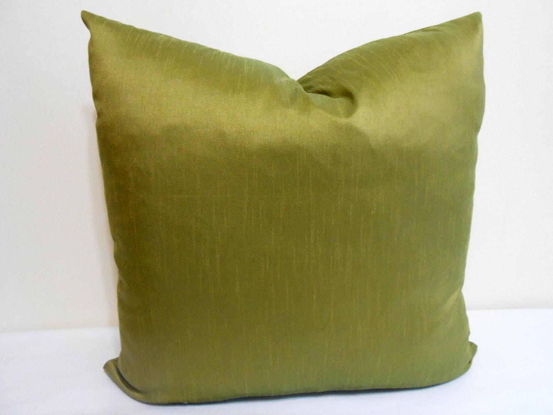 Lime Green Dupioni Silk Decorative Pillow Sofa Pillow