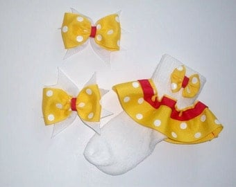 Baby Girl Ruffle Ribbon Socks Set. Size S
