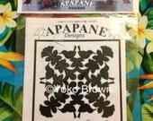 "Hawaiian quilt pattern ""Apapane on Lehua"" 20 inch x 20 inch"