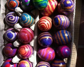 Easter Eggs for Spring, Easter, Passover, Hope for the future and all year round, covered in polymer clay