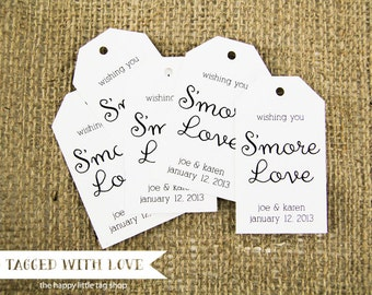 Smore Wedding Favor - Smore Wedding Favors - Smore Love Tags - Wedding Favor Tags - Smore Favor - Smore Tags - Wedding Favor Tags - MEDIUM