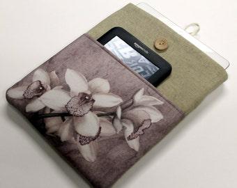 Womens Laptop Sleeve, Laptop Case, pocket, Orchids , 14 in , 15 in, 13 in, 17 in