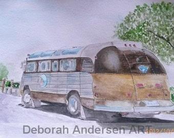 OLD BUS - Watercolor Original