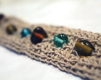 Crocheted Hemp Wristband