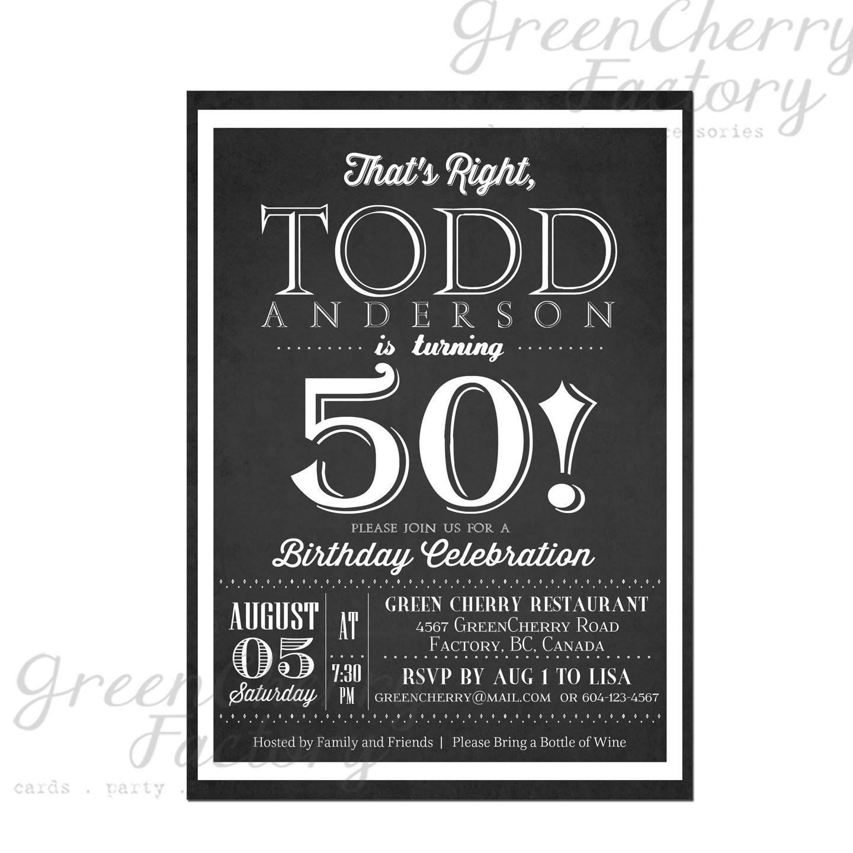 Items Similar To Milestone Adult Birthday Invitation