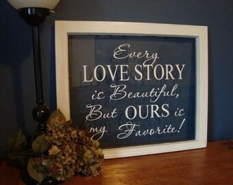 Love Story- Window or Wall Vinyl