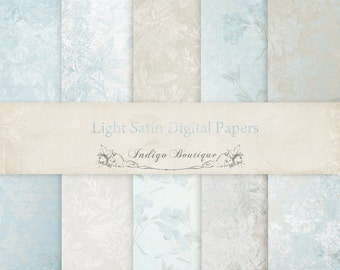 Light Satin Digital Papers -  for Photographers, Scrapbooking and Card Making ID0115, Instant Download