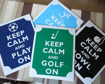 Custom Keep calm sports fridge magnets