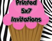 Printed Digital Invitation