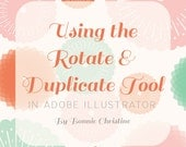 using the duplicate and rotate tools in adobe illustrator - tutorial