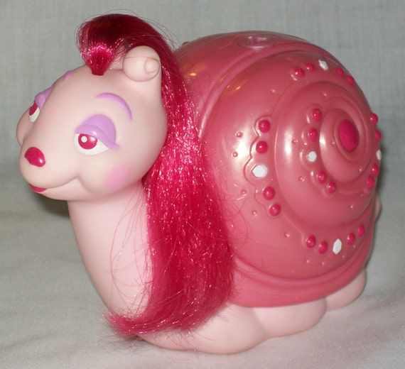 Squishy Toys From The 80s : 1986 Tonka KEYPERS FANCY the Pink SNAIL Bank Toy Vintage