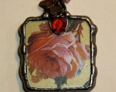 Well Hello You Blooming Rose Necklace With Mirror on the Back
