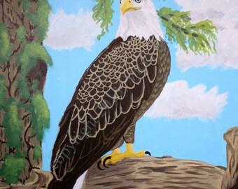 Eagle Artwork, Original Eagle Art, Bald Eagle Art, National Symbol, Independence Day, original bald eagle, Painting Eagle,  Item # FPO1