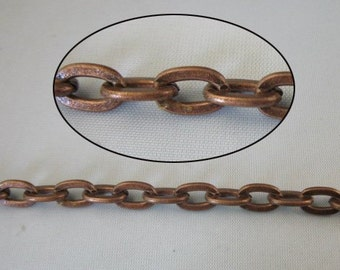 4 Meters 9x6mm antiqued copper cable metal chain