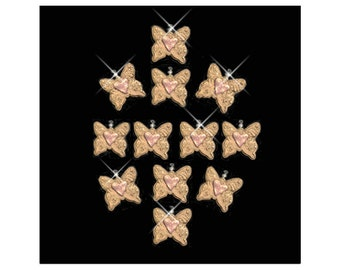 Shower Curtain Hook Ornaments...Butterflies with Hearts.
