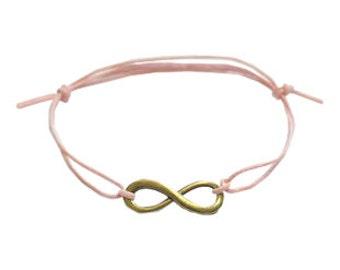 Infinity Charm Adjustable Cord Bracelet Boho/Hippie/Festival/Wish