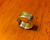 Hammered Sterling Silver band Ring (reserved)