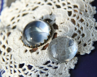 12  pcs  of  25mm high dome  glass  cabochon 25mm-8500