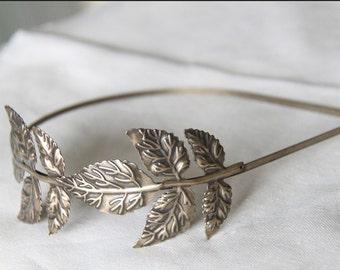 2pcs Brass Filigree leave headband  filigree 2008