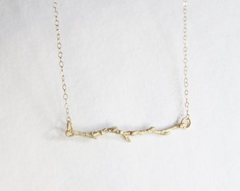 Gold Branch Necklace - Branch Necklace - Charm Necklace - Thin Necklace - Gold Branch Necklace - Small Necklace - Simple Necklace