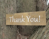 Thank You   Rustic wedding sign     made from reclaimed wood