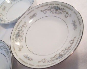 Vintage Fine China Japan Diane Dessert / Fruit Bowls - Set of 4