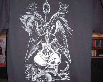 Baphomet T-shirt (FREE SHIPPING in USA Only) Witchy Occult Satanism Aleister Crowley Anton Lavey Mystic Magic Spiritual