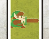 Retro NES Legend Of Zelda inspired print 11X17""