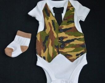 Newborn Tie & Vest Onesie