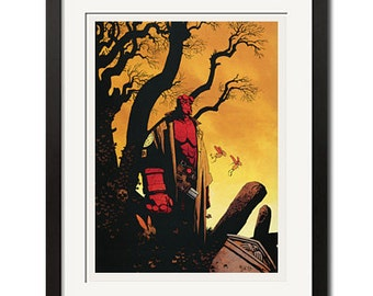 Hellboy Urban Comic Art Poster Print 0474