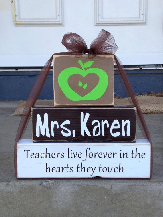 personalized teacher principal by fromthemillwoodblock on etsy