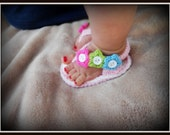 SALE 20% OFF Super cute  Summer Crochet Shoes Sandals and Flip Flops for Baby Girls