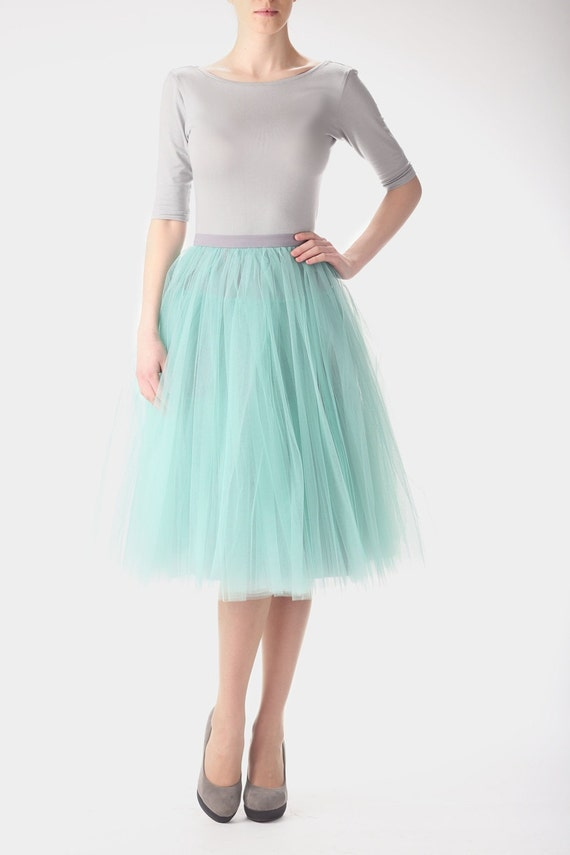 Mint Tulle Skirt Carrie Bradshaw Inspired Tutu Sex And The-2869