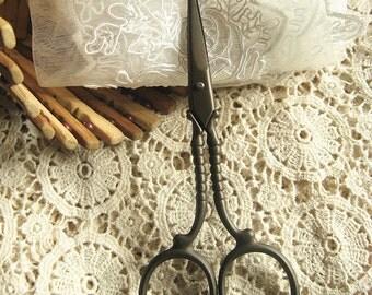 Antique Scissors, Zakka Sewing Emroidery Scissors, Stainless scissors, Vintage scissors for sewing