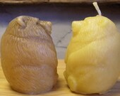 Bear Candle, Little Bear Beeswax Candle, Cinnamon Beeswax Candle, or Cinnamon Beeswax Figurine ~ Northwoods ~ all natural beeswax