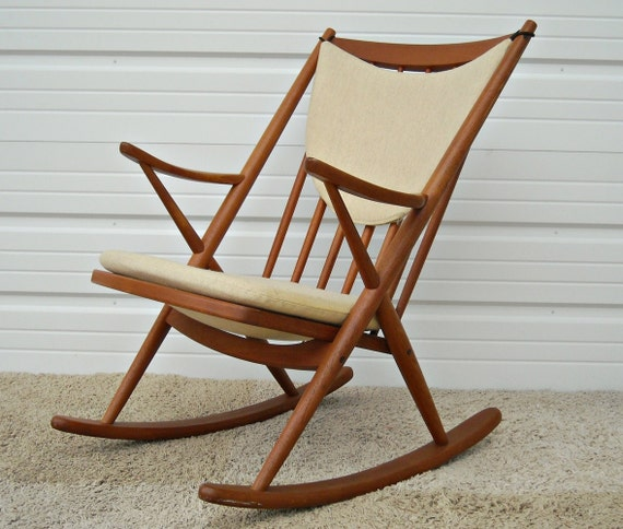 ... Rocker Rocking Chair Mid Century Reenskaugh Danish Modern Teak SALE on