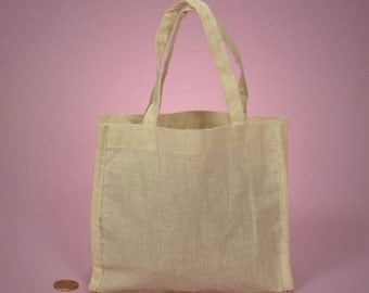 """Cotton Tote Bag - 7"""" x 6"""" - Customization Available"""