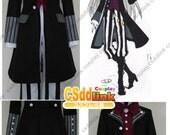 Black Butler Kuroshitsuji Undertaker Cosplay Costume with Hat Ver.2